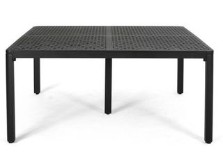 Tahoe Outdoor Modern Aluminum Dining Table with Woven Accents by Christopher Knight Home  Retail 685 49