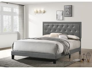 Best Quality Furniture Faux leather Tufted Buttons Panel head board  Queen  Twin  and Full  Retail 268 49