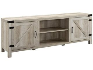 70  Modern Farmhouse TV Stand   White Oak