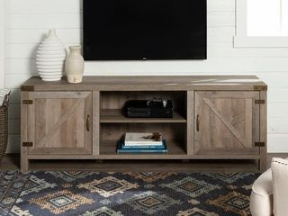 The Gray Barn Firebranch 70 inch Barn Door TV Console   Retail 278 99
