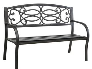 Furniture of America lord Bronze Metal Outdoor Garden Bench  Retail 144 49