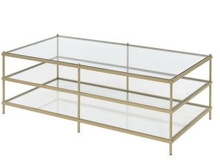 Silver Orchid Farrar Gold 3 Tier Coffee Table  Retail 175 99