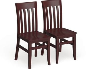 Copper Grove Glencairn Wood Dining Chairs  Set of 2  Retail 209 99