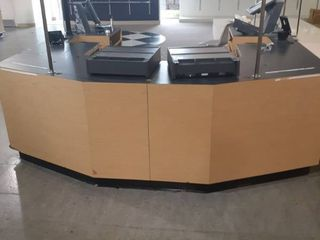 Double sided register checkout stands