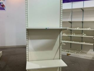 free standing display shelves