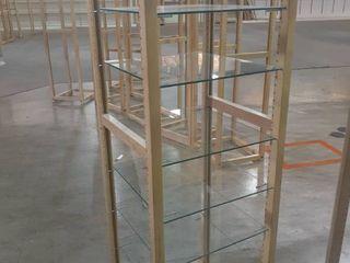 Wood and Glass Shelving Display