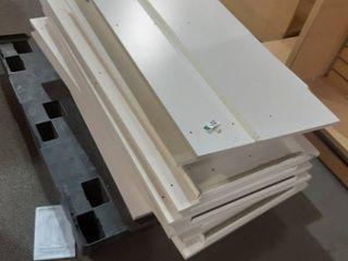 pallet of misc shelves