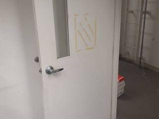 36 inch solid core door with window