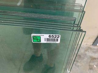 assorted glass shelves