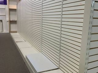 free standing display shelves double sided