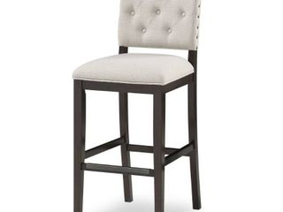 lindale Button Tufted Stationary Bar Stool by Greyson living