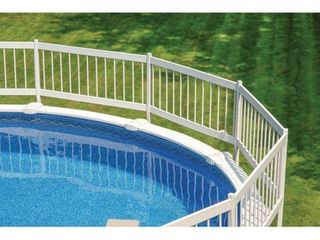 GlI Above Ground Pool Fence Base Kit  8 Section  Incomplete