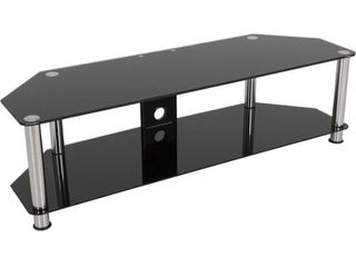 AVF Classic Corner Glass TV Stand with Cable Management for up to 65