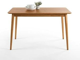 Zinus Mid century Modern Wood Dining Table   Natural Olb dt mc47   Preowned