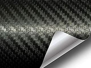 VViViD XPO Black 3D Carbon Fiber 5ft x 5ft 25sq ft Cast Vinyl Decal Bubble Free Car Wrap   USED AND RIPPED IN HAlF7