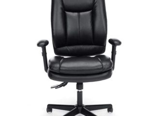 OFM Essentials Collection Ergonomic High Back Bonded leather Executive Chair  in Black  ESS 6050