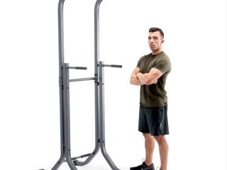 Marcy Power Tower Multi Functional Home Gym Pull Up Chin Up Push up Dip Station for Strength Training TC 5580