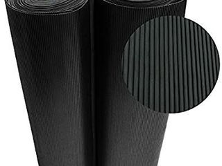 Rubber Cal 03 167 W RC 08 Ramp Cleat Non Slip Outdoor Rubber Floor Mats  1 8  Thick x 3  x 8  Black   37  Wide Unknown length