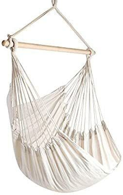 Chihee Hammock Chair large Hammock Chair Relax Hanging Swing Chair Cotton Weave for Superior Comfort   Durability Perfect for Indoor Outdoor Home Bedroom Patio Deck Yard Garden