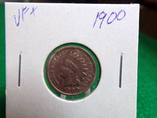 1900 INDIAN HEAD PENNY   VF