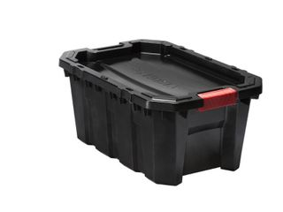 15 Gal  latch and Stack Tote in Black