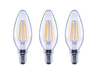 EcoSmart 60 Watt Equivalent B11 Dimmable ENERGY STAR Clear Glass Filament Vintage Edison lED light Bulb in Daylight  3 Pack
