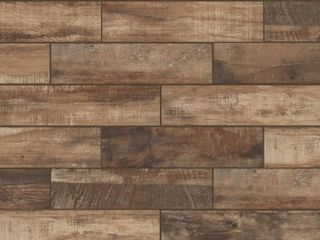 Wind River Beige 6 in  x 24 in  Porcelain Floor and Wall Tile  14 sq  ft    case  Brown Multi