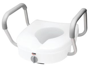 Carex E Z lock Raised Toilet Seat with Arms