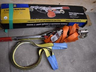 PowerFist 2-Ton Hand Puller w/ Extra Sling | ST