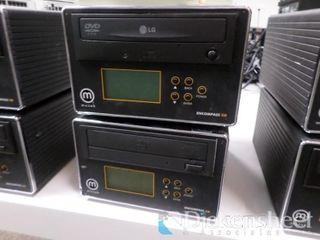 (2) Muzak Model Encompass XD DVD Player, No Power