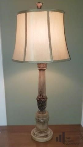 Heavy Marble Base Table Lamp