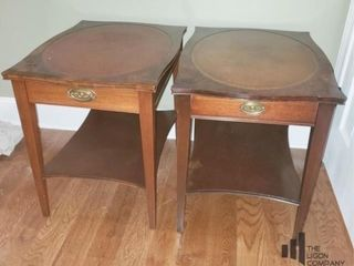 Pair of Henredon End Tables