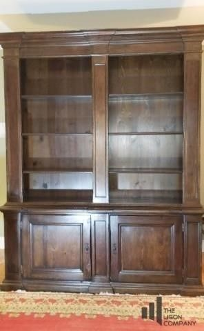 Knotted Pine Book Shelf and Cabinet