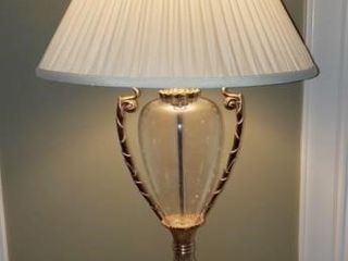 Chapman Glass Base Lamp With Shade