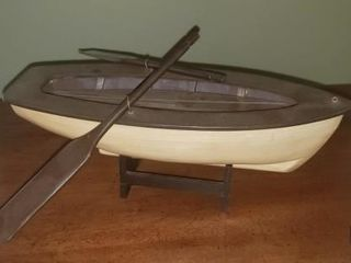 Wooden Row Boat Home Decor