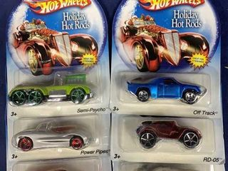 6 Carded Hot Wheels Holiday Hot Rods