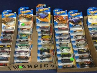 4 Flats: Apx 65 Carded Hot Wheels