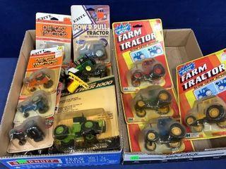 2 Flats: Assorted Tractors & Farm Equipment