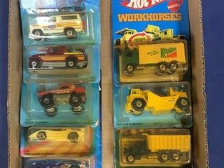 Flat: Apx 10 C 1980s Carded Hot Wheels