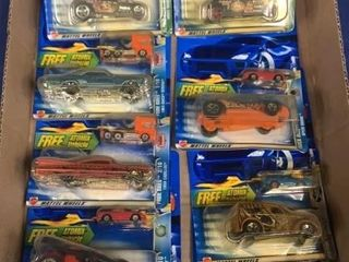 Flat: 9 Carded Hot Wheels & Atomix Vehicles