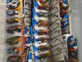Tote Of Apx 50 Assorted Carded Hot Wheels