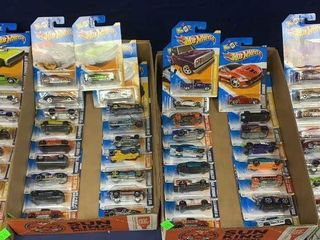 4 Flats: Apx 70 Carded Hot Wheels