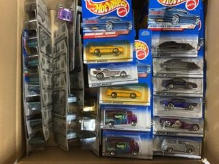 Box: Apx 70 Carded Hot Wheels