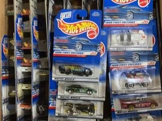 Box: Apx 78 Carded Hot Wheels