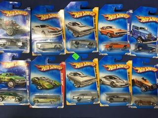 Box Of Apx 21 Assorted Hot Wheels
