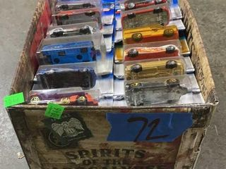 Box: Apx 72 Carded Hot Wheels