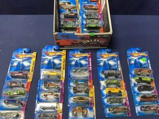Box Of Apx 40 Assorted Carded Hot Wheels