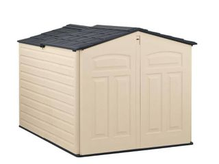 Rubbermaid 6 ft. 6 in. x 5 ft. Slide-Lid Resin Shed