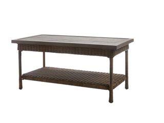 Beacon Park Wicker Outdoor Patio Coffee Table with Slat Top