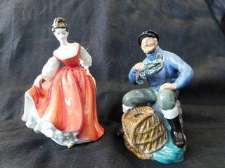 Doulton Figurines  2 ea